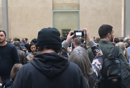 Tourist Waited Four Hours to Get This Shitty Picture of Mona Lisa